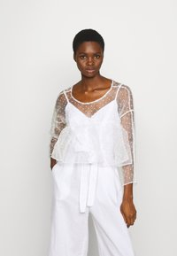 Who What Wear - THE CROPPED BABYDOLL - Blouse - white - 0