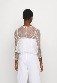 Who What Wear - THE CROPPED BABYDOLL - Blouse - white - 2