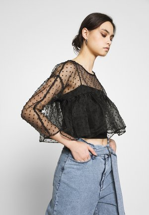THE CROPPED BABYDOLL - Blouse - black