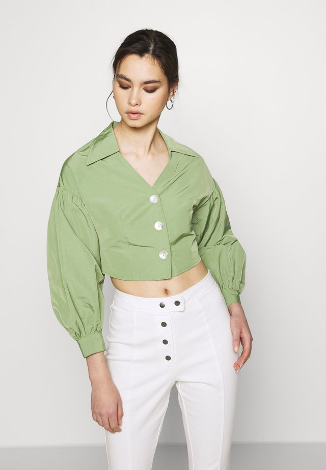 THE WAISTED - Button-down blouse - military green