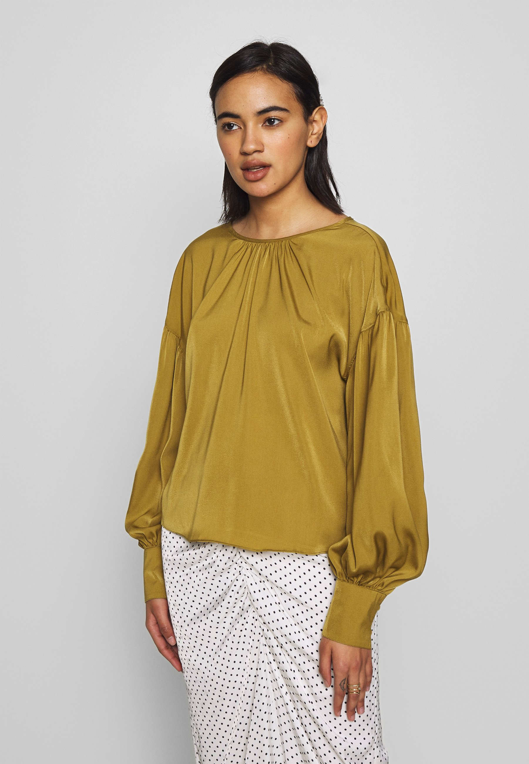 Who What Wear THE BALLOON SLEEVE BLOUSE - Bluser - army