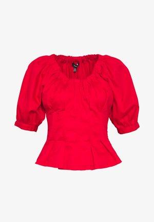 THE WAIST DETAIL BLOUSE - Bluser - carmine red