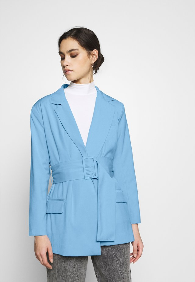 THE SINGLE BREASTED JACKET - Short coat - cornflower blue