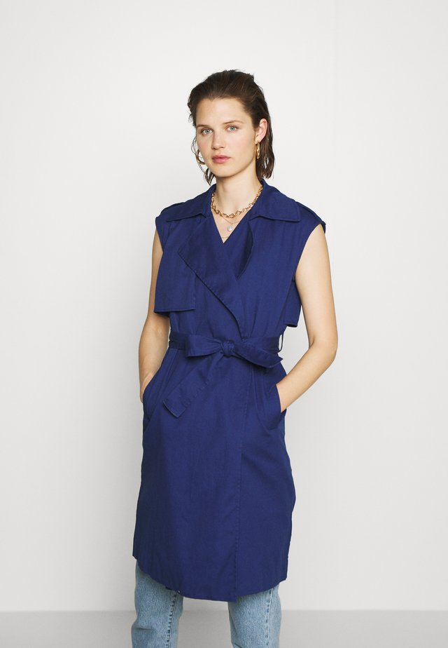 THE SLEEVELESS - Shirt dress - navy