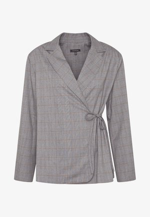 SIDE TIE - Blazer - grey