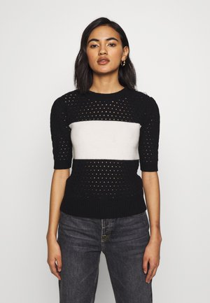 THE SHORT SLEEVE - Jumper - black/white