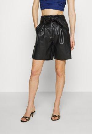 THE PAPERBAG WAIST - Pantalon classique - black