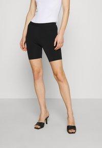 Who What Wear - THE BIKER - Shorts - black - 0