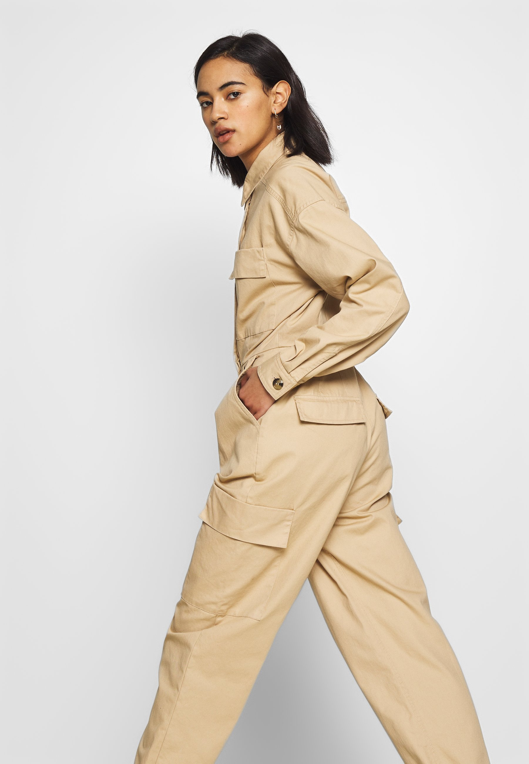 Who What Wear The Utility Jumpsuit - Sand
