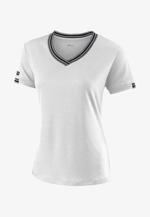 TEAM - Print T-shirt - white/black