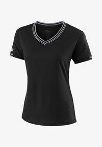 Wilson - TEAM V-NECK - Basic T-shirt - black - 0
