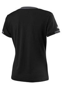 Wilson - TEAM V-NECK - Basic T-shirt - black - 1