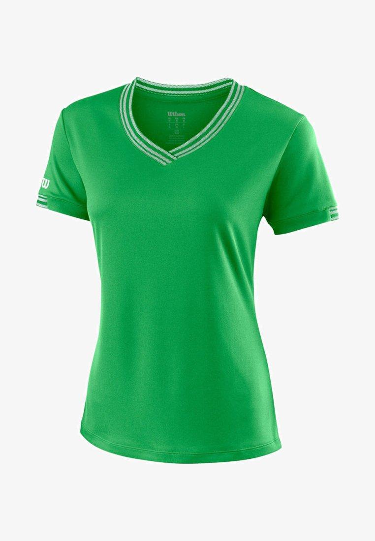 Wilson - TEAM V-NECK - Basic T-shirt - green