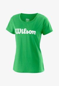 Wilson - SCRIPT TECH - Print T-shirt - green - 0