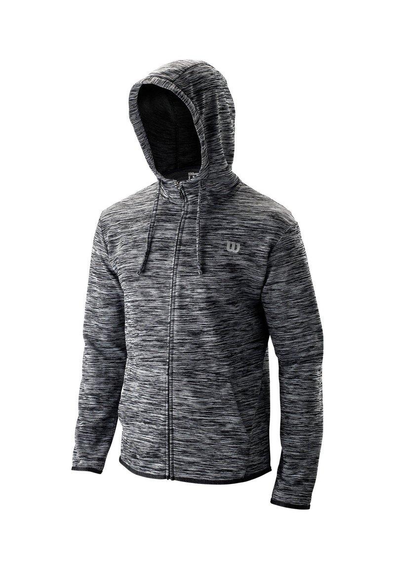 Wilson - WILSON HERREN TENNIS-SWEATJACKE - Zip-up hoodie - schwarz (200)