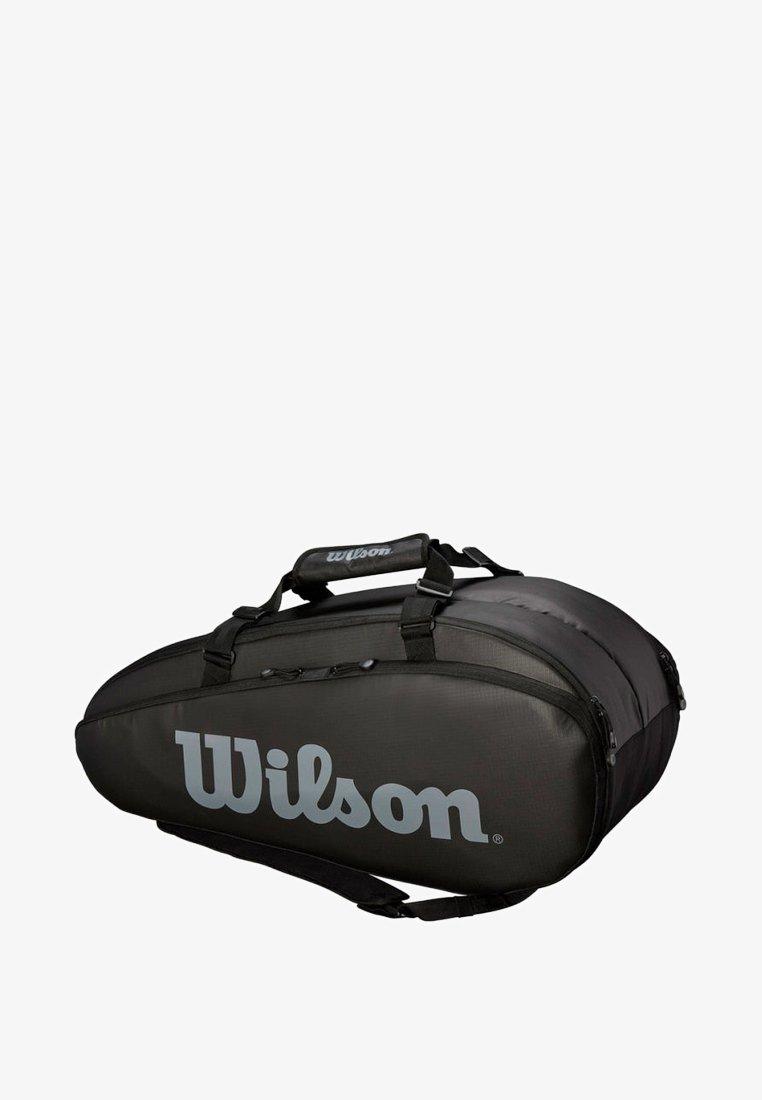 Wilson - TOUR 2 COMPARTMENT LARGE 9ER BAG - Racket bag - black