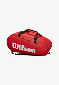 Wilson - TOUR 3 - Racket bag - red - 0