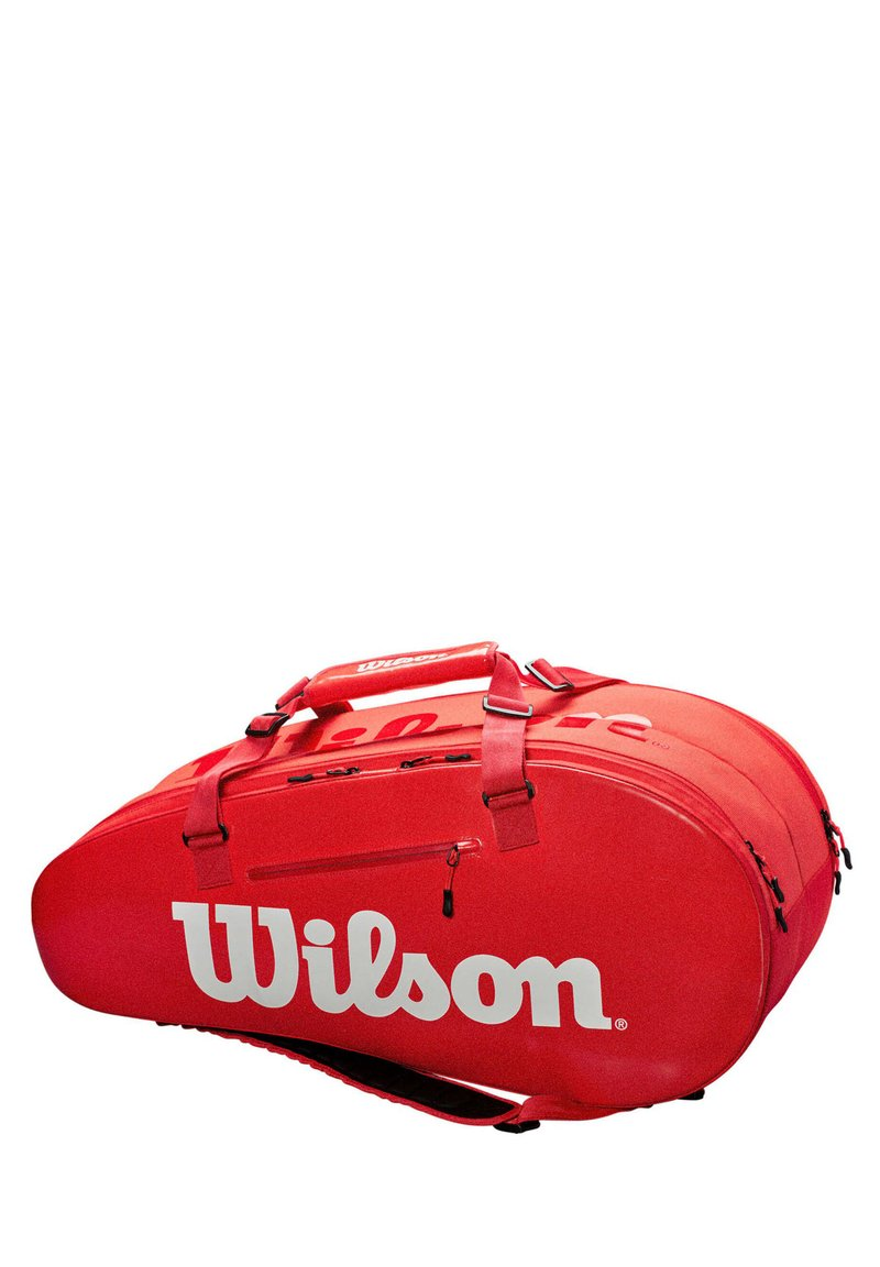 "Wilson - WILSON TENNISTASCHE ""LARGE SUPER TOUR 2"" - Sports bag - red"