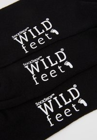 Wild Feet - WILD FEET EMBROIDERED SOCKS 3 PACK - Calze - black - 2
