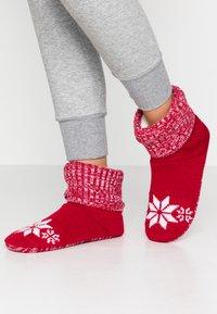 Wild Feet - WILD FEET BOOTIE - Slippers - red - 0