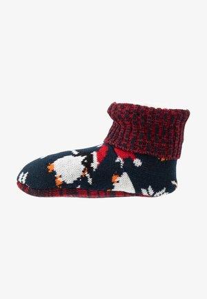 WILD FEET BOOTIE - Pantofole - navy