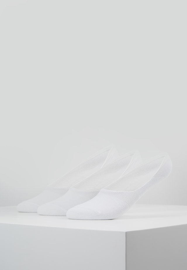 INVISIBLE SOCKS 3 PACK - Ankelsokker - white