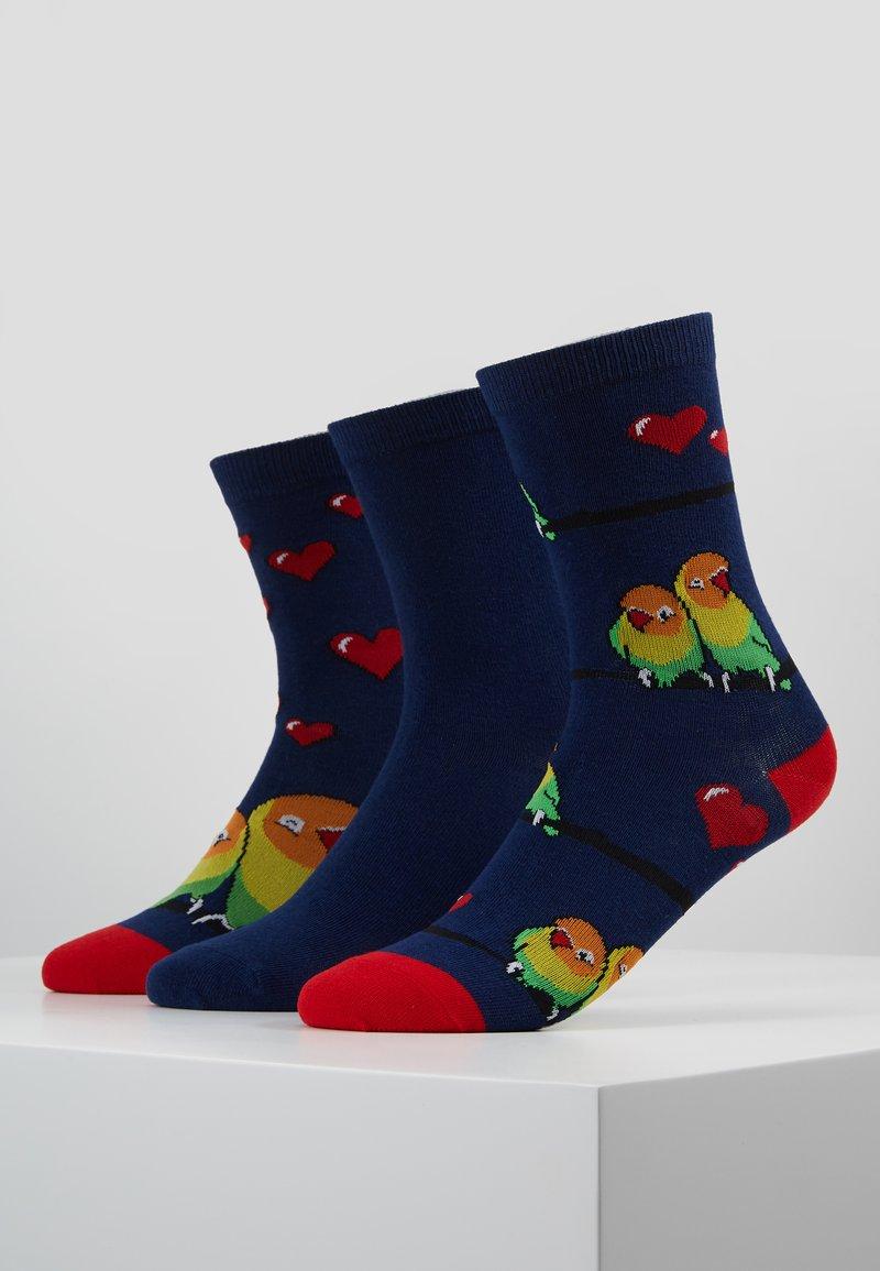 Wild Feet - LOVE BIRDS SOCK GIFT BOX 3 PACK - Sokken - multi
