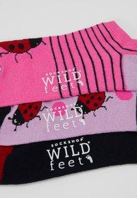 Wild Feet - LADYBIRD TRAINER SOCKS 3 PACK - Sokker - multi-coloured - 3