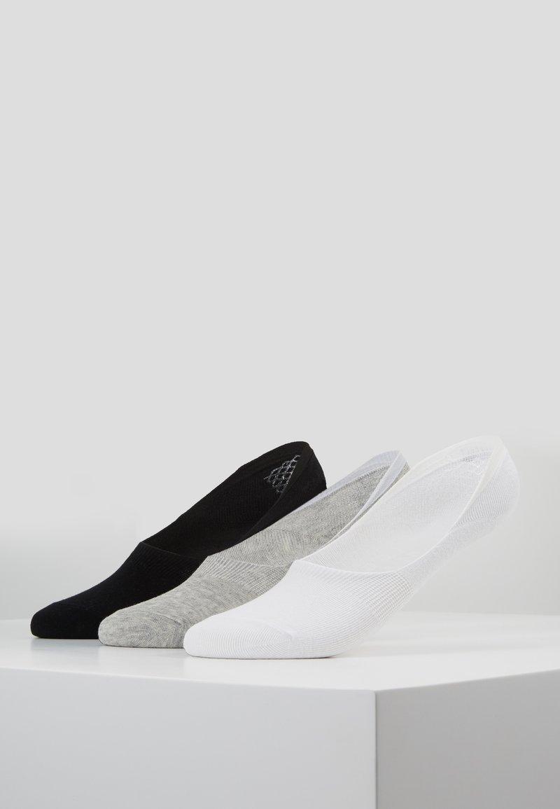 Wild Feet - INVISIBLE SOCKS 3 PACK - Sportovní ponožky - white
