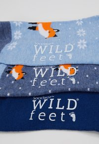 Wild Feet - FOX TRAINER SOCKS 3 PACK - Sokker - multi - 3