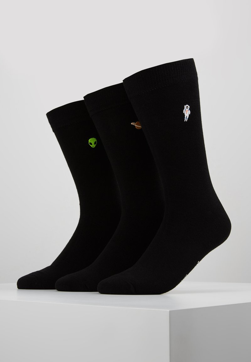 Wild Feet - SPACE EMBROIDERED 3 PACK - Sukat - black