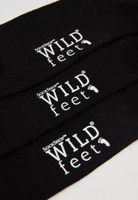 Wild Feet - DOGS EMBROIDERED SOCKS 3 PACK - Skarpety - black - 2