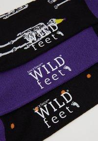 Wild Feet - SKELETON SOCKS 3 PACK - Skarpety - multi-coloured - 2