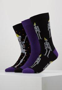 Wild Feet - SKELETON SOCKS 3 PACK - Skarpety - multi-coloured - 0
