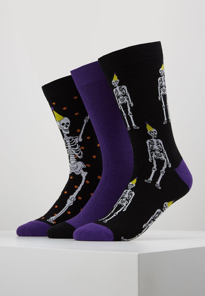 Wild Feet - SKELETON SOCKS 3 PACK - Skarpety - multi-coloured