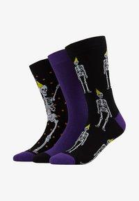 Wild Feet - SKELETON SOCKS 3 PACK - Skarpety - multi-coloured - 1