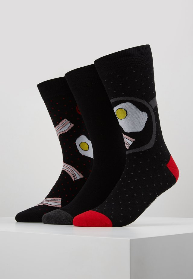 BREAKFAST 3 PACK - Chaussettes - black