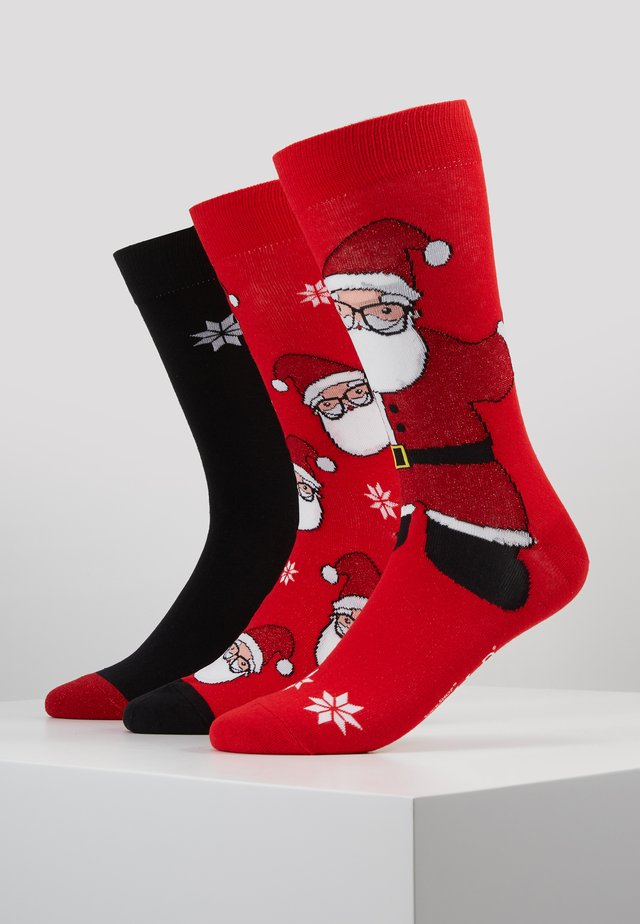 SANTA SOCKS 3 PACK - Socks - red/black/white