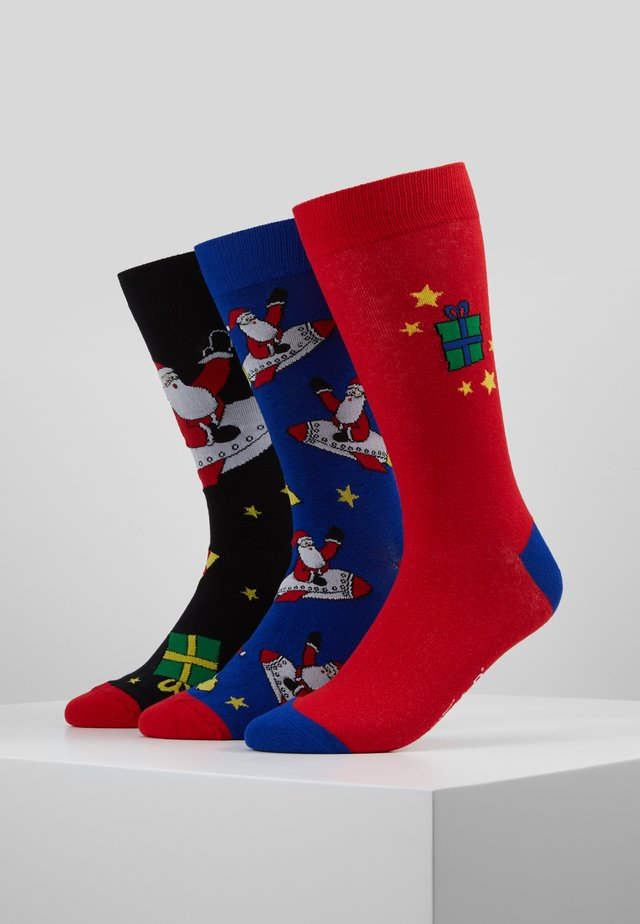 WILD FEET SANTA ROCKET SOCKS 3 PACK - Socks - multi