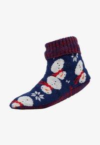 Wild Feet - WILD FEET SNOWMAN SLIPPER BOOTIE - Chaussettes - multi - 1