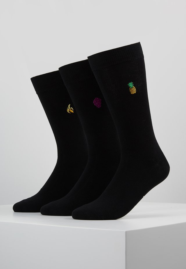 FRUIT SOCKS 3 PACK - Ponožky - black