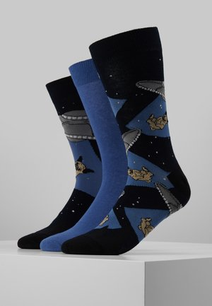 MENS ABDUCTED PUG 3 PACK - Sokken - dark blue/grey