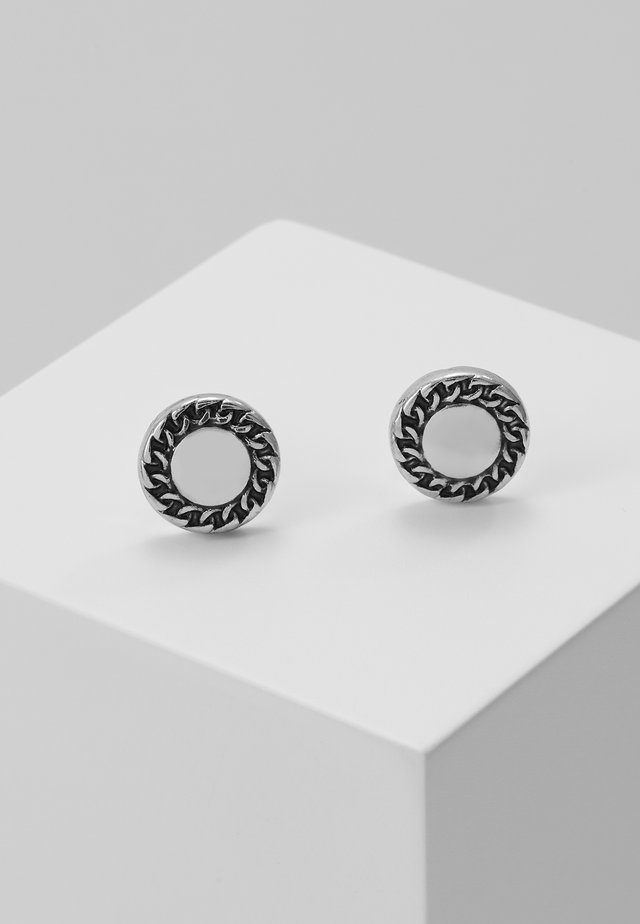 EMBLEMATIC STUD EARRINGS - Kolczyki - antique silver-coloured