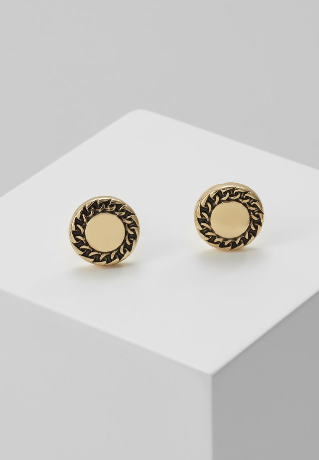 EMBLEMATIC STUD EARRINGS - Kolczyki - antique gold-coloured