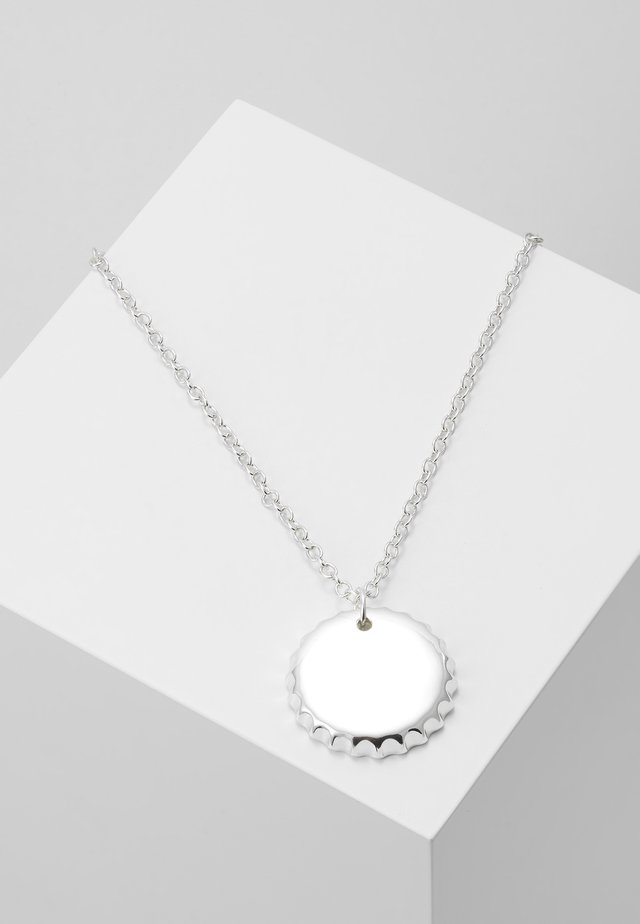BOTTLE PENDANT NECKLACE - Halsband - silver-coloured