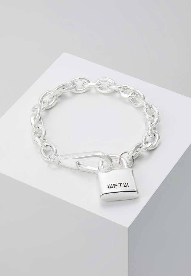LOCKDOWN LINK CHAIN BRACELET - Bransoletka - silver-coloured