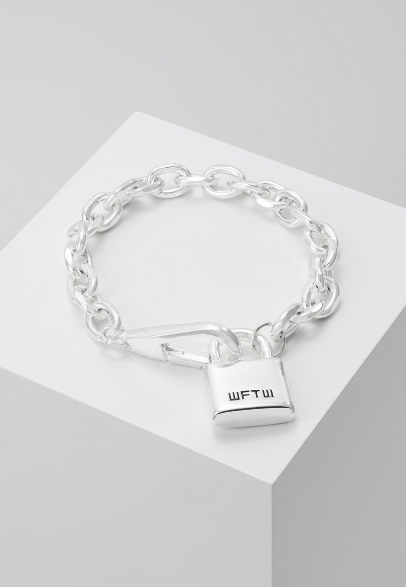 Wild For The Weekend - LOCKDOWN LINK CHAIN BRACELET - Bracciale - silver-coloured