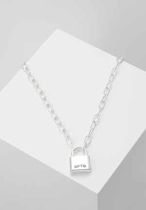 LOCKDOWN LINK CHAIN NECKLACE - Náhrdelník - silver-coloured
