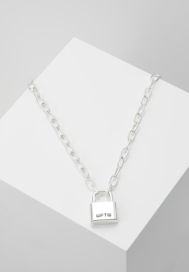 LOCKDOWN LINK CHAIN NECKLACE - Naszyjnik - silver-coloured