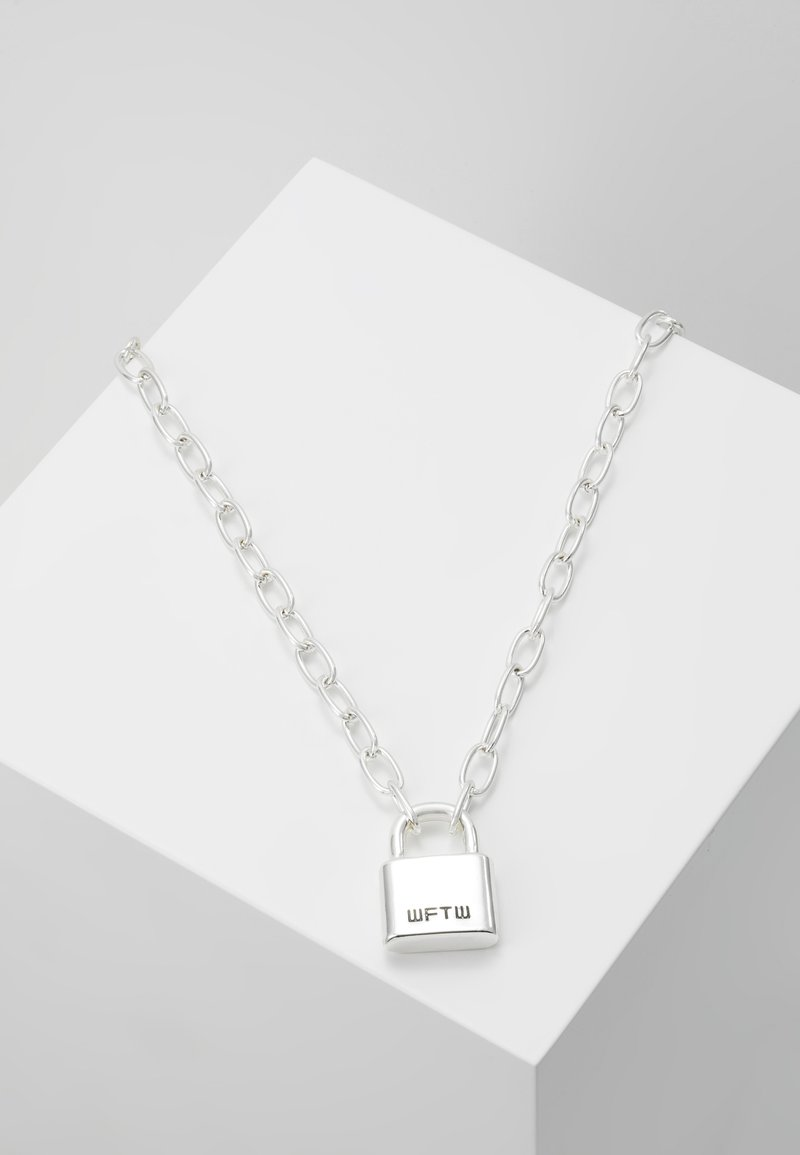 Wild For The Weekend - LOCKDOWN LINK CHAIN NECKLACE - Ketting - silver-coloured